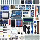RexQualis UNO R3 Project The Most Complete Ultimate Starter Kit Arduino w/UNO R3 Development Board, Real Time Clock, Water Lever Sensor, RC522 RFID Module, MQ-2 Gas, Detailed Tutorial (67 Items)