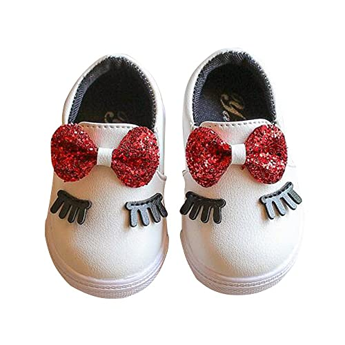 143d2ec97eb Amazon.com | LanXi Girls Pu Leather Loafers Bling Bowknot Eyelash ...