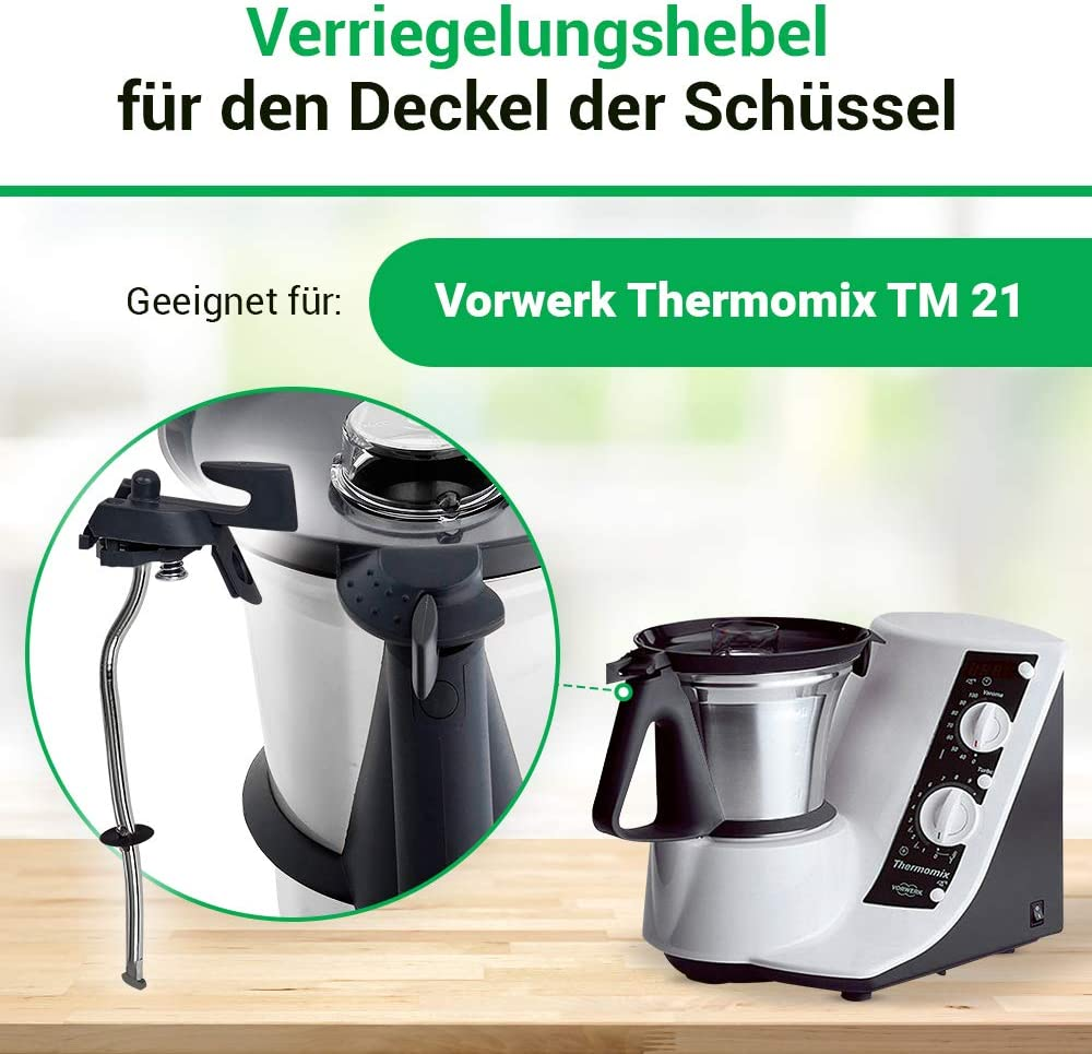 Vorwerk Thermomix safety lock locking locking lever for kitchen machine TM21 new spare parts: Amazon.es: Hogar