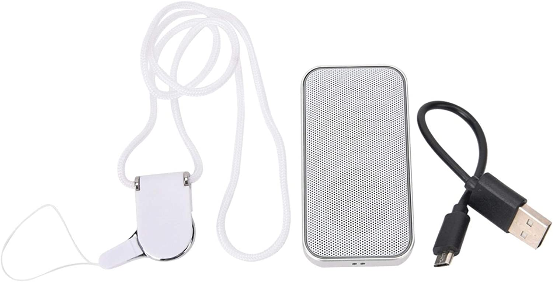 Altavoz Bluetooth Aec Smart Mini Altavoz Bluetooth Portátil con Reproductor TF y Control de Volumen BT-209(blanco)