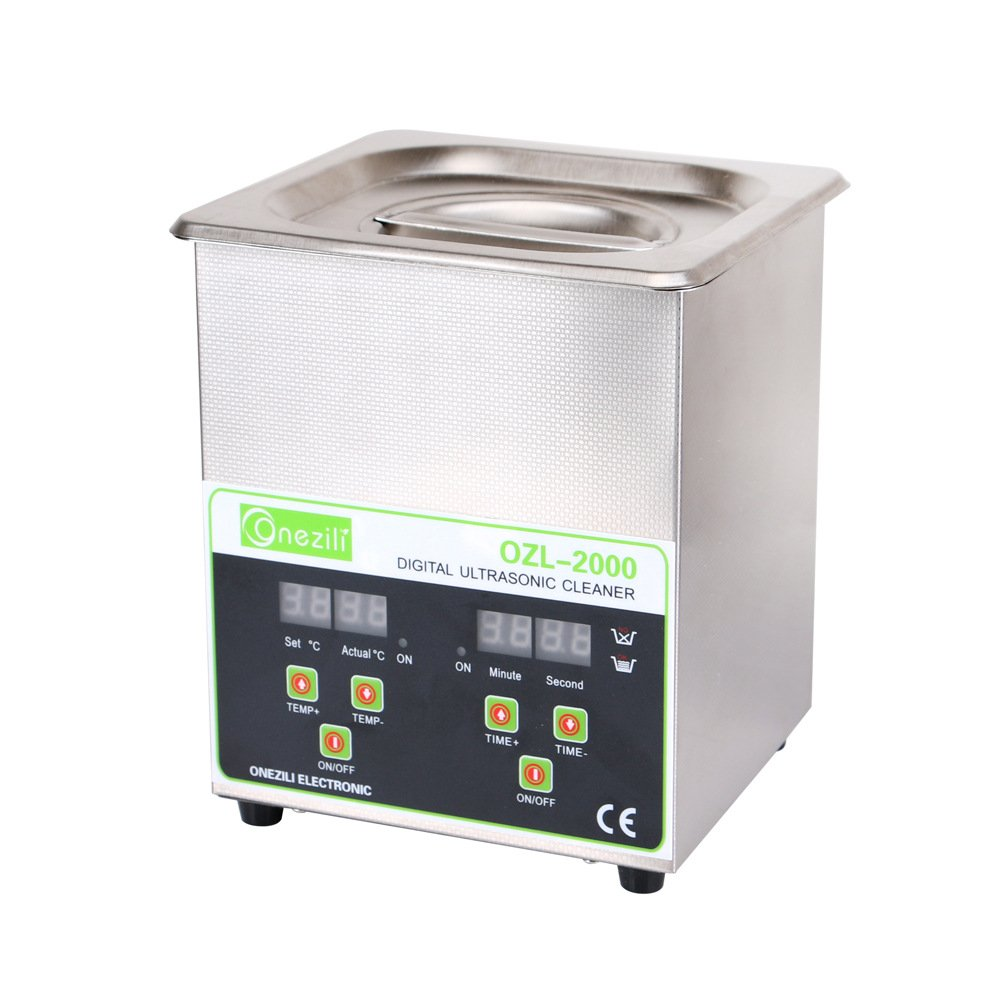 2.0L 60W 40Hz Professional Industrial Ultrasonic Cleaner For Jewelry Rings Necklace Watches Denture DVDs Gun Parts Labs Fittings Coins Digital Display Adjustable Heating Function Timer Setting