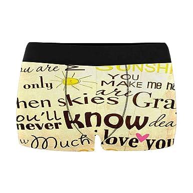 INTERESTPRINT Mens Boxer Briefs Underwear XS-4XL
