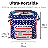 THE #1 American Flag Cooler with Speakers