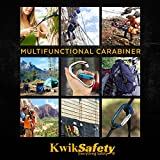 KwikSafety Annex   N-272 Aluminum Carabiner   Heavy Duty Yoke Twist Lock Gate   25 kN Min. Breaking Load   CE & EN Certified   Multifunctional Climbing Camping Hiking Traveling Fall Protection Tool