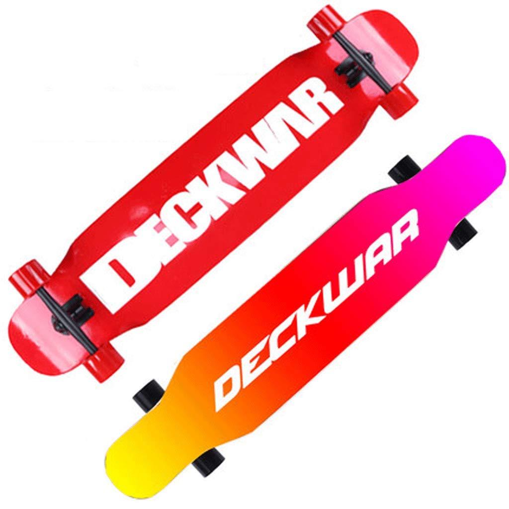 Longboard-Mädchen-Skateboard-Anfänger-Vierrad-Landstraßen-Straße Fähigkeiten Fähigkeiten Fähigkeiten Bilaterales abfallendes Brett-erwachsenes Tanz-Brett B07KLXY93Z Skateboards Hervorragende Eigenschaften a1a1db