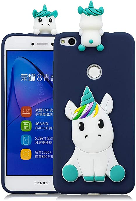 Funda para Huawei P8 Lite 2017 Silicona Unicornio 3D Animal ...