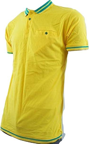 Estufa de Polo para hombre, de un color amarillo: Amazon.es: Ropa ...
