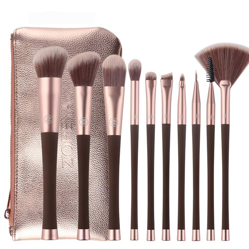 10Pcs Set pennelli per Trucco Professionale Make up Kit Strumenti per pennelli Eye Liner Eyeshadow Eye Brushes Make-up