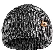 DANISH ENDURANCE Classic Merino Wool Beanie for Men & Women, Soft & Stretchable Unisex Cuffed Plain Knit Hat with…