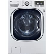 LG WM3997HWA Ventless 4.3 Cu. Ft. Capacity Steam Washer/Dryer Combination with TurboWash TrueBalance Anti-Vibration System NeveRust Stainless Steel Drum Allergiene Cycle in White