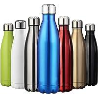 ZUSERIS Water & Borraccia Sportiva Termica in Acciaio Inox Thermos a Doppia Parete per Esterni Escursionismo Ciclismo Campeggio - 350 ml & 500 ml & 750 ml & 1000ml