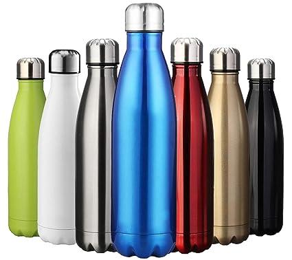 ZUSERIS Botella Aislada al Vacío de Acero Inoxidable | 350ml/500ml/750ml/1000ml Ecológica Reutilizables Botellas Termos para Niños Deporte Yoga ...