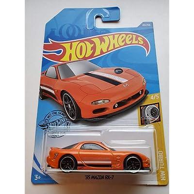 Hot Wheels 2020 Hw Turbo '95 Mazda RX-7, 43/250 Orange: Toys & Games