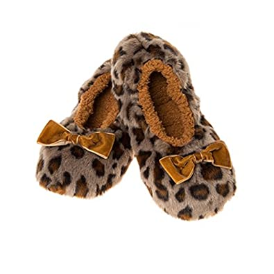 7877e0fa548 Grey Leopard Touch Me Snoozies Winter Warm Modern Ballet Slippers - Ladies    Girls UK 3