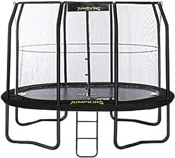 Trampolin Mit Netz Und Leiter Jumppod Oval351 X 244 Cm Schwarz 2016 Amazon De Spielzeug