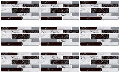 ULTNICE 9Pcs azulejos decorativos para cuarto de baño ...
