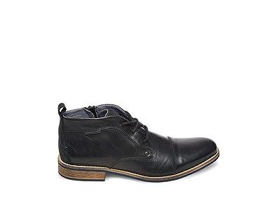 b0bd49578ab70f Amazon.com | Steve Madden Men's Kipp Black Leather Bootie Casual 13 US |  Chukka