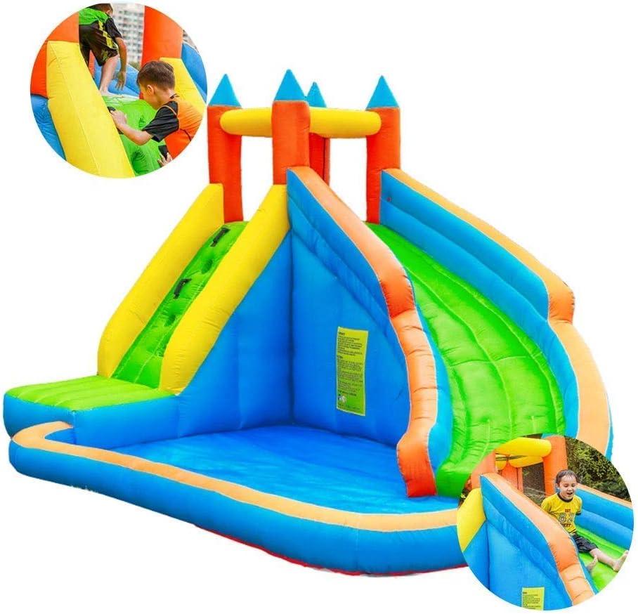 Parque de Atracciones al Aire Libre Camas elásticas Castillo Hinchable Equipo Juguete de los niños tobogán for niños Indoor Conveniente for 1-18 Años de Edad (Color: Azul, 118 * 88,5 Pulgadas) zhihao