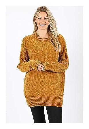 657ebb751 Long Sleeve Round Neck Velvet Yarn Sweater at Amazon Women s ...