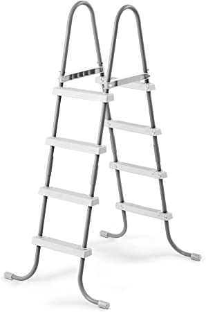 Intex Piscina escalera de acero de doble cara para decoración de para suelo piscinas | 28058e: Amazon.es: Jardín