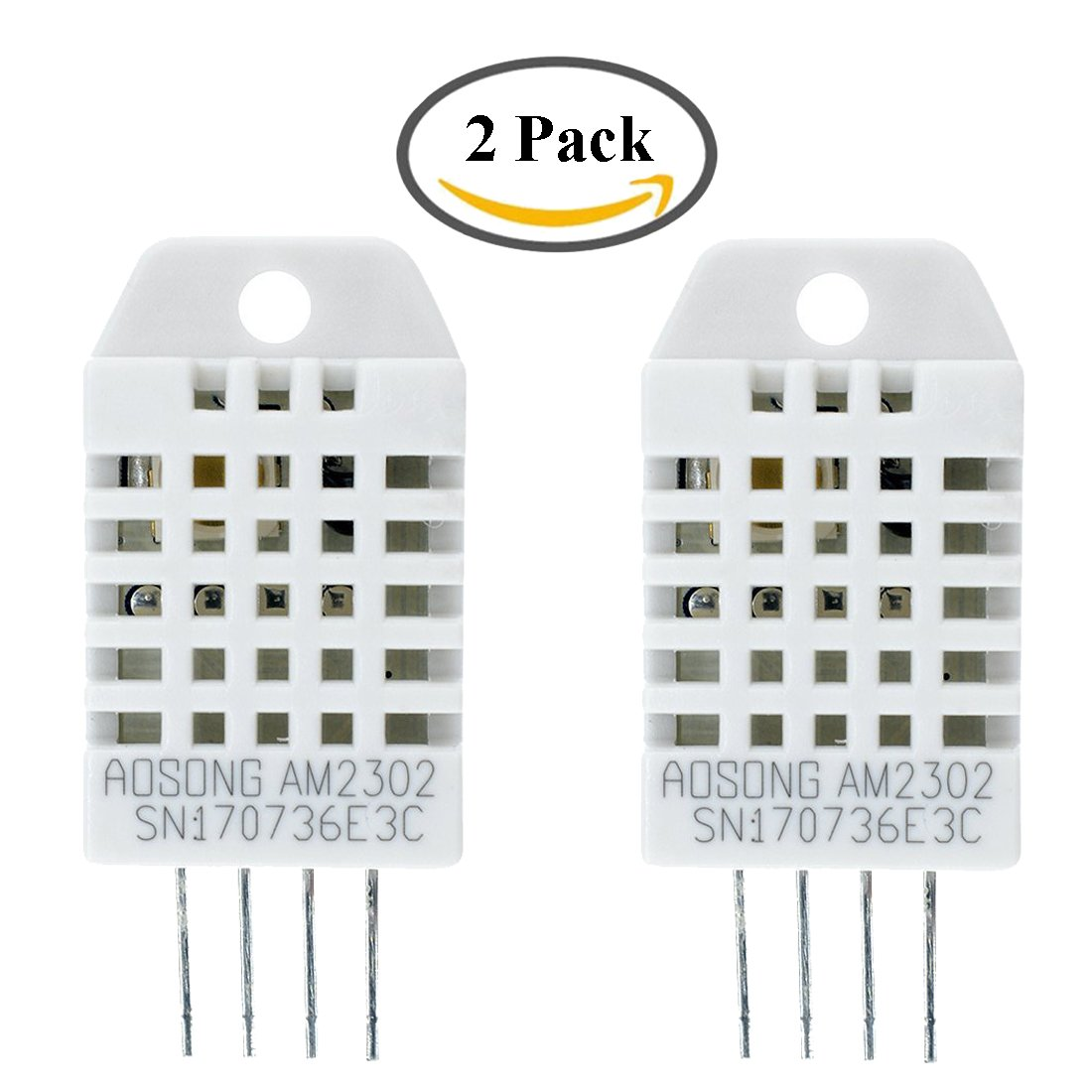 HiLetgo® 2pcs DHT22/AM2302 Digital Temperature and Humidity Sensor Replace SHT11 SHT15