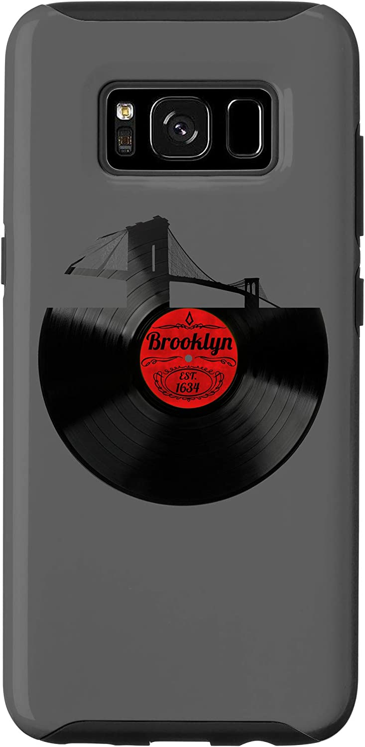 Amazon Com Galaxy S8 Brooklyn New York Aesthetic Vinyl Record Hipster Brooklyn Case