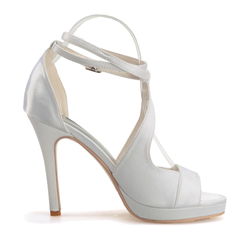 Elegant high shoes5915-18 Sandali da donna da donna/Buckle Nights Office & Career Fine Heels, champagne, 36