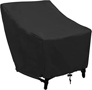 Patio Chair Covers, Outdoor Patio Seat Cover, Lounge Deep Seat Cover Waterproof Durable UV Resistant Anti-Fading, 600D Oxford Heavy Duty Large Lawn Furniture Cover (L31 x D39 x H31, 1 Pack, Black)