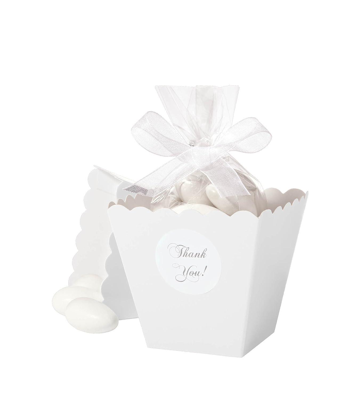 Amazon.com: Wilton 1006-4039 Favor Box Set, White 50 Count: Food ...
