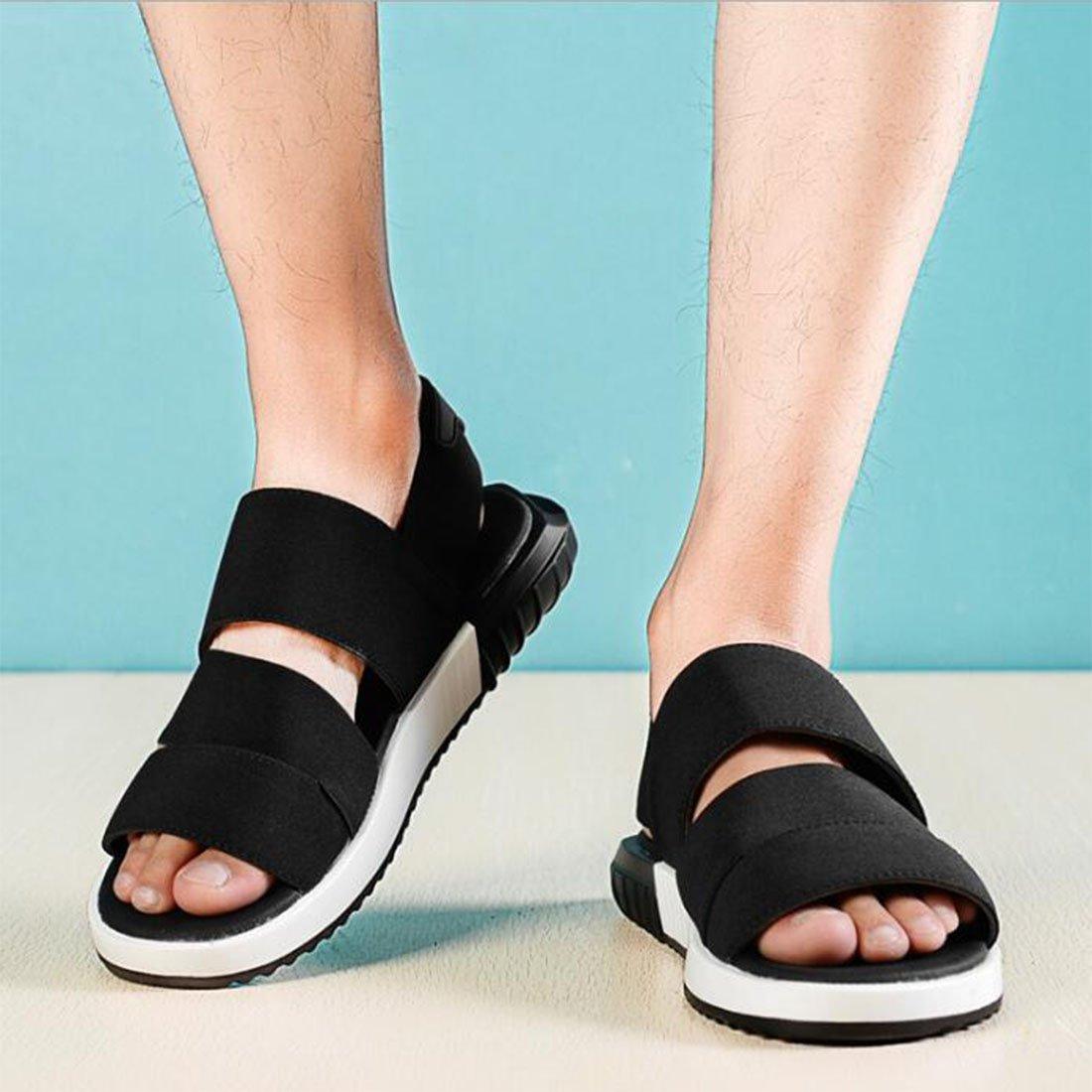 ZHONGST Sommer Sandalen Beach Paare Toes Casual Fashion Beach Sandalen Schuhe schwarz eb38bd