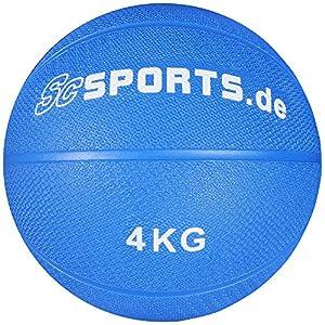 ScSPORTS Medizinball, Blau, 4 kg, 10000404