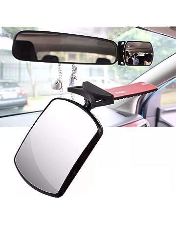 Xrten Specchio per Auto sedile posteriore specchio,Specchietto Retrovisore Bambini Vista posteriore Specchio,Nero