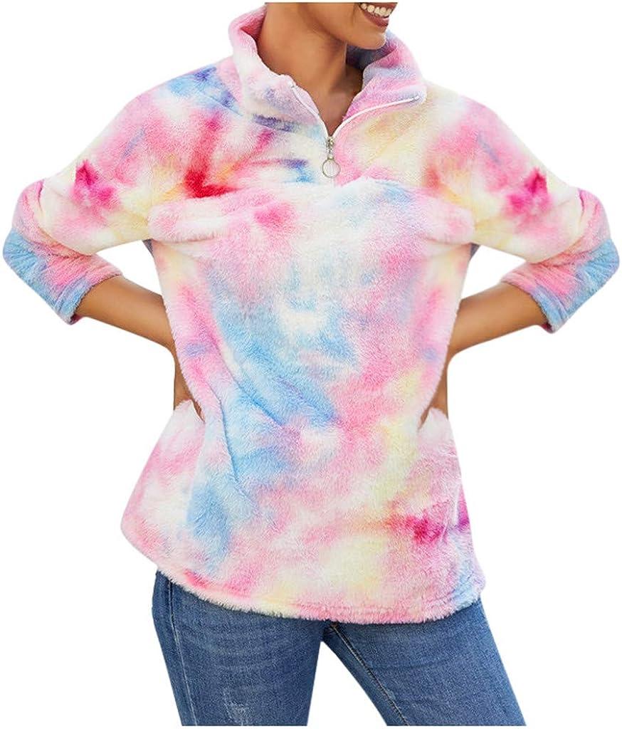 Women Tie Dye Fleece...