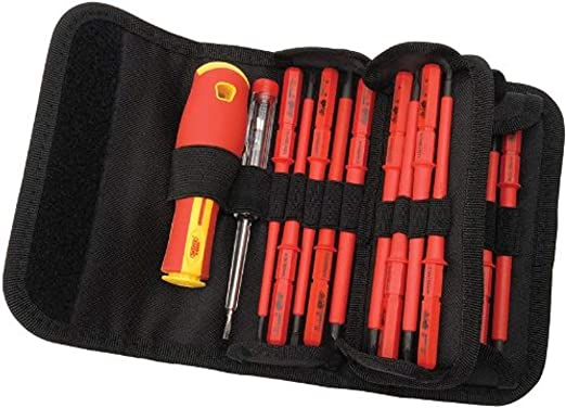 Draper 5776 - Estuche de destornilladores aislados intercambiables (18 piezas): Amazon.es: Bricolaje y herramientas