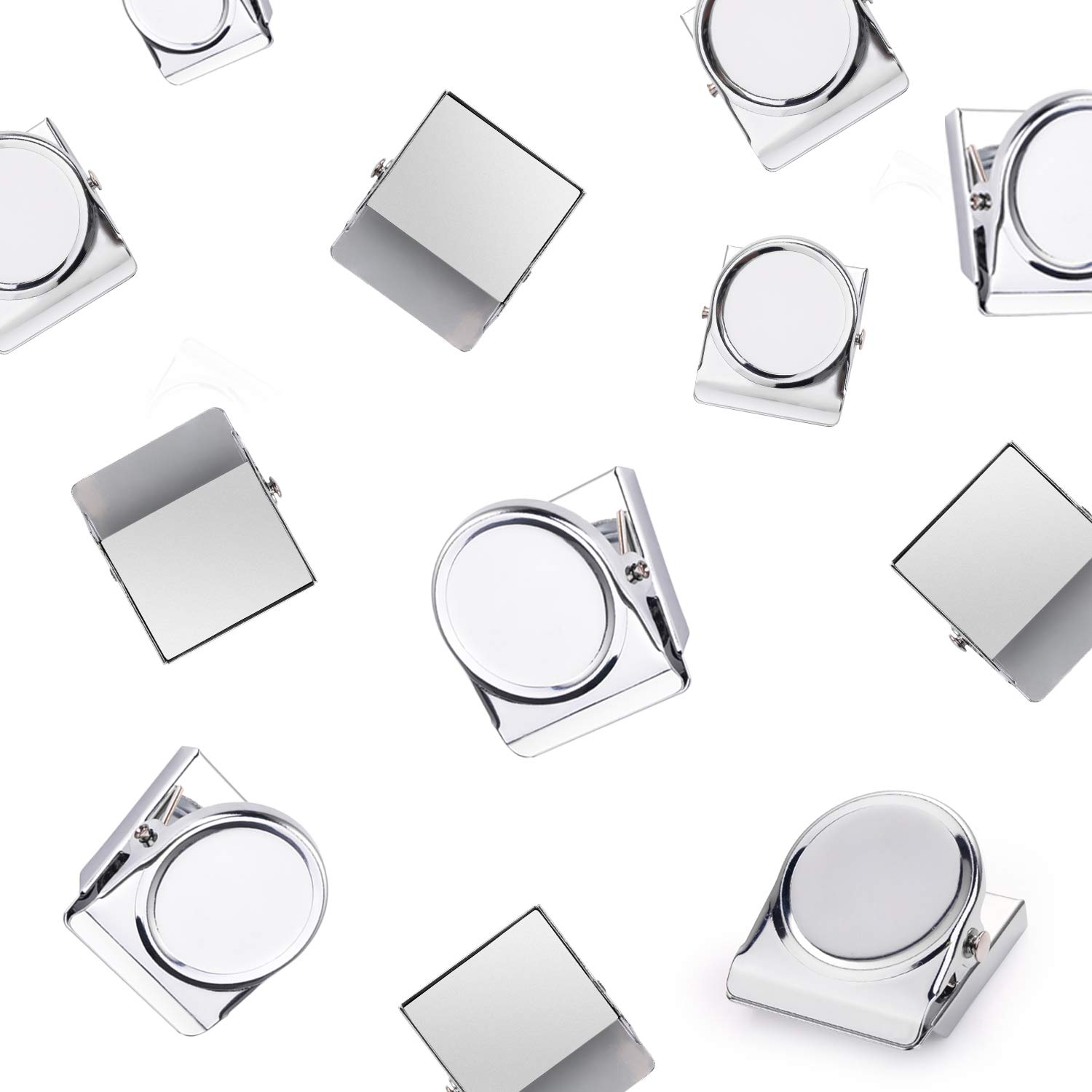 HOUSE AGAIN Scratch-Free Refrigerator Magnet Clips for Organizing, Decorating - Magnetic Memo Note Clip Metal Clip