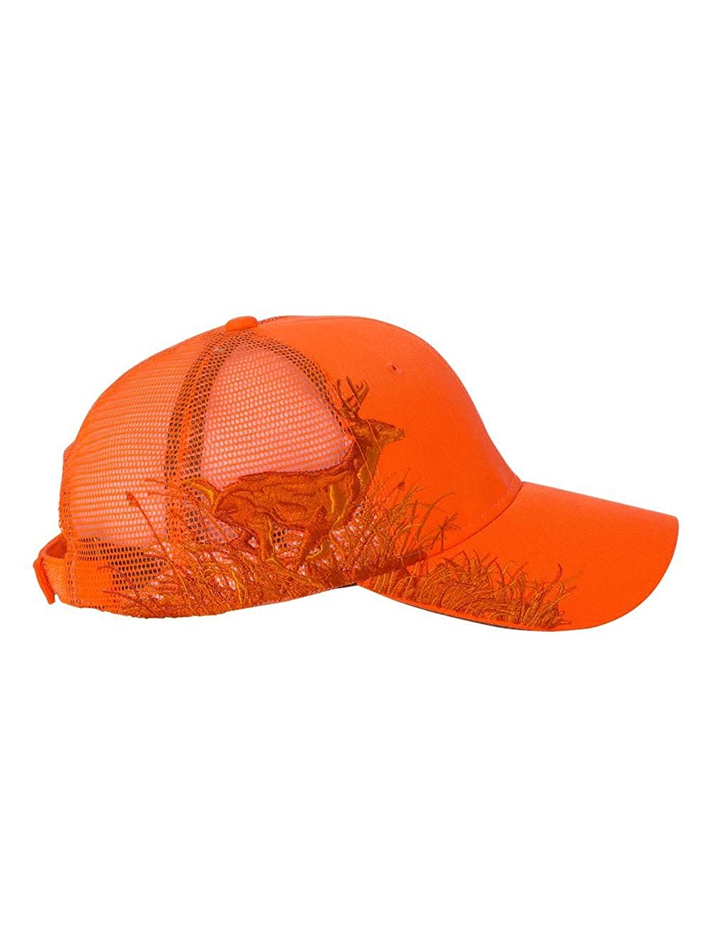 Dri Duck Running Buck Mesh Back Blaze Orange Cap  1541595593-170521 ... ff2d957a543