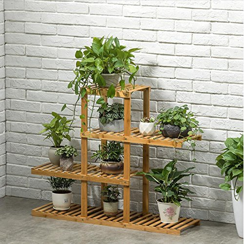 Magshion Wooden Flower Stands Plant Display Rack Choose 3 4 5 6 Shelf (4 Shelf) by Magshion