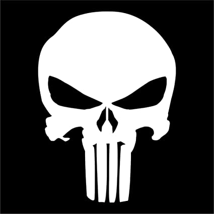 PUNISHER Multiple Colors Car Decal Sticker