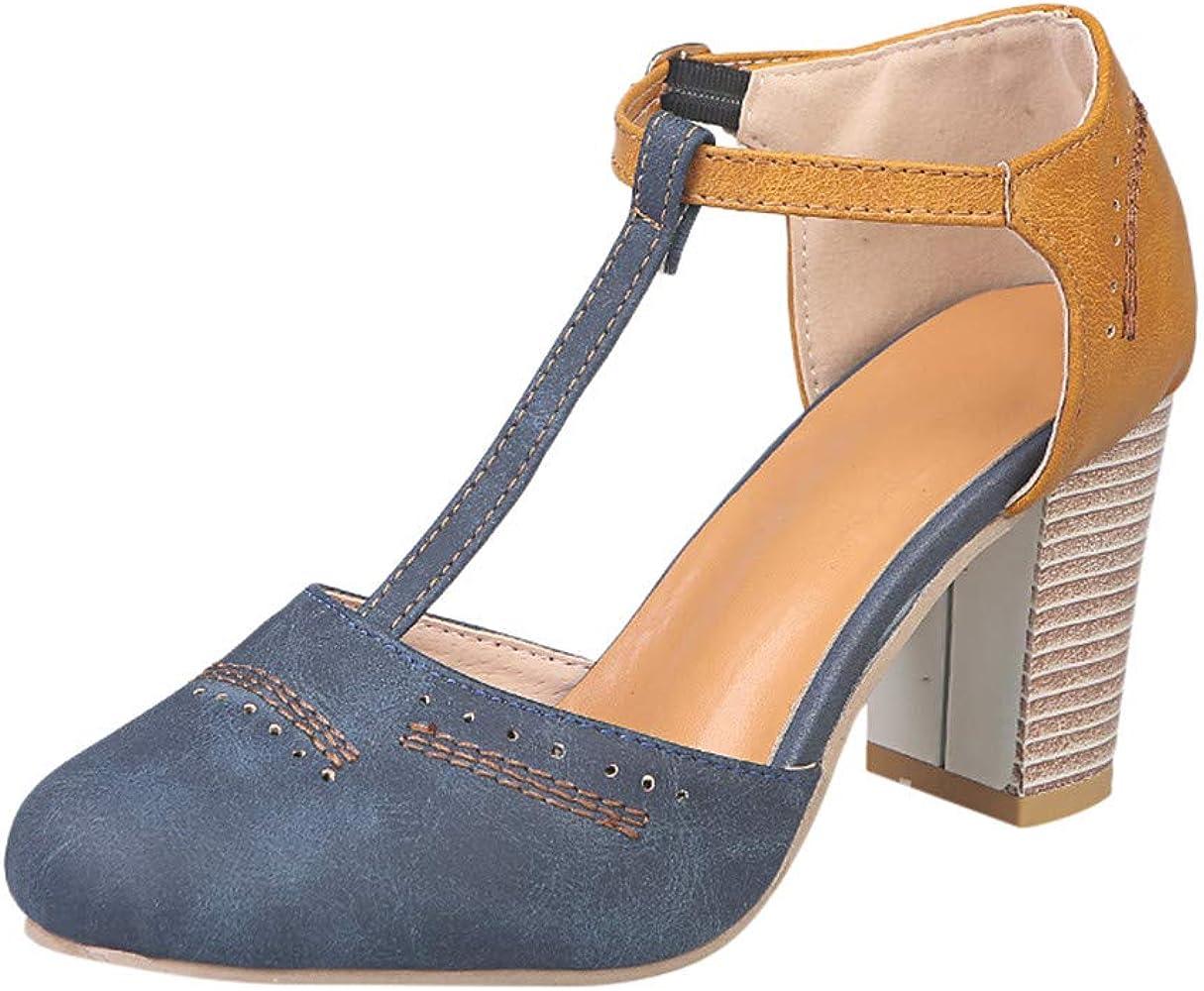 Plage Femme Chaussure Mode En Cher Sandale Été Romain Bloc Escarpin Cheville Talon De Lanière 5~8cm,pas Soldes,style UVSzqpM
