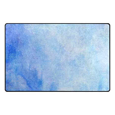 Amazon.com: Watercolor azul nubes fondo Vintage Alfombra ...