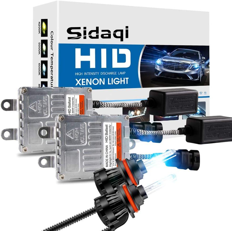 Sidaqi H1 80W HID Xenon Conversion Kit White 6000K Lampadina faro di ricambio per auto