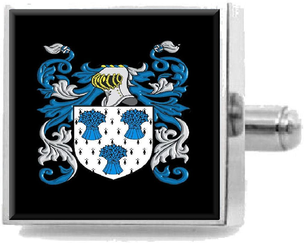 Select Gifts OMeara Ireland Heraldry Crest Sterling Silver Cufflinks Engraved Message Box