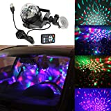 Dr.OX USB Disco Light Car DJ Sound Activated Toy Lights with Remote Control for Kids Birthday Party Bar DJ Home Club Wedding Dancing Show
