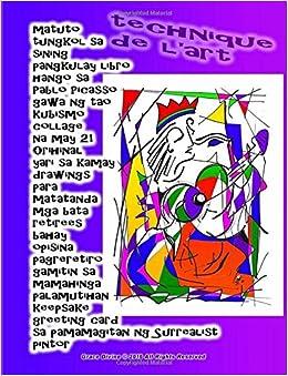 matuto tungkol sa sining pangkulay libro hango sa pablo picasso gawa ng tao kubismo collage na may 21 orihinal yari sa kamay drawings para matatanda pintor grace divine tagalog edition