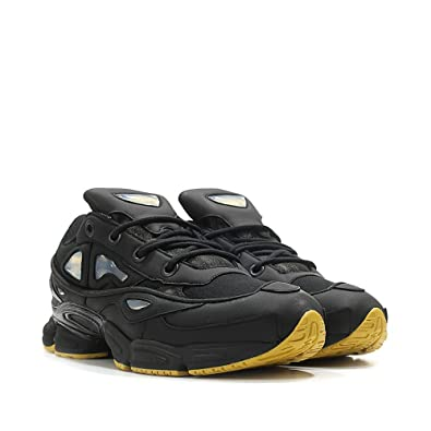 new products a6ae9 474d6 adidas Mens RAF Simons Ozweego III Black Leather Size 9