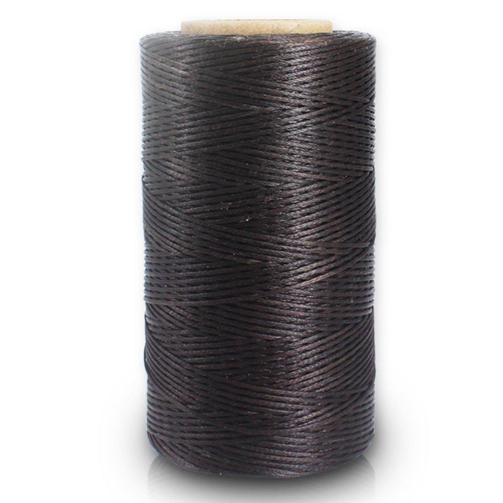 Cucito filo cerato mano cucitura pelle Cord per fai da te (marrone) 1PIECE Rocita