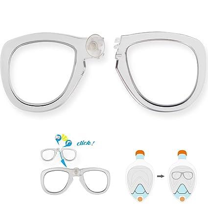 Amazon.com : WhiteFang Corrective Lenses for Full Face Snorkel Mask ...