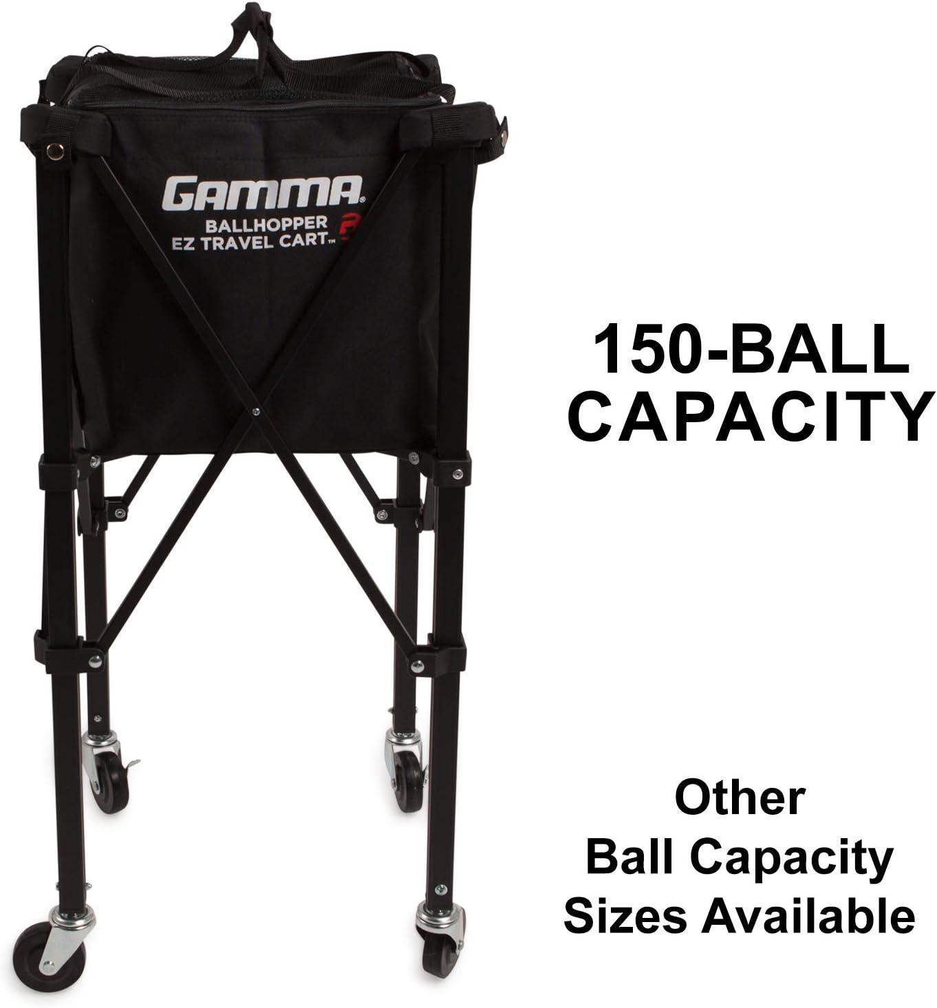 Gamma Sports EZ Travel Cart Pro Ball Hopper 150 : Tennis Ball Hoppers : Sports & Outdoors