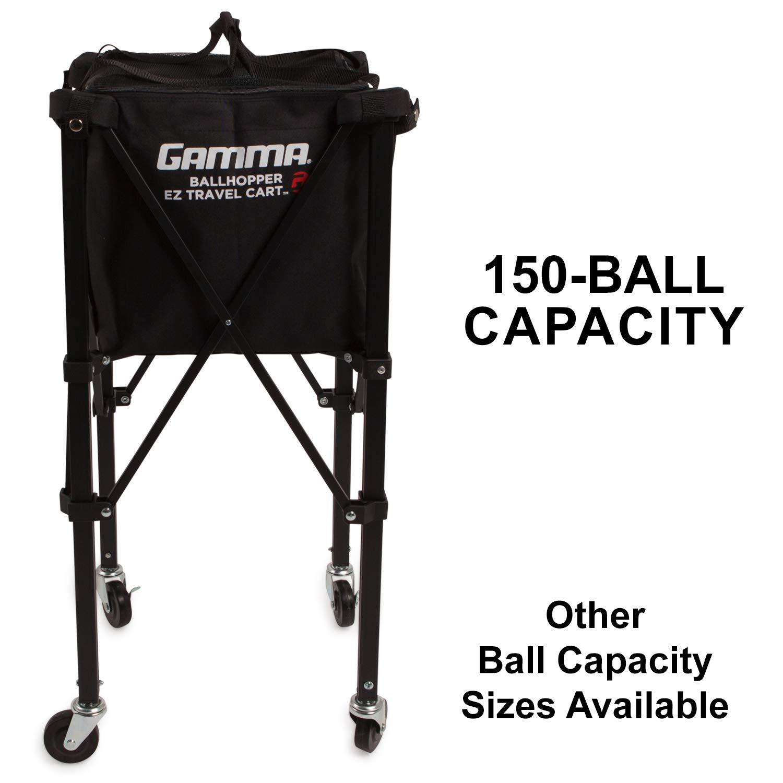 Gamma Sports EZ Travel Cart Pro 150 Ball Hopper, Black