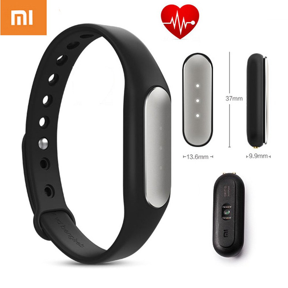 Xiaomi New Original Mi Band Band Music Mi 2 OLED Smart Bracelet Best Algorithm Pulse Pulse IP67 (Mi Version 2.0 Black & # xFF09, MGW4024GL